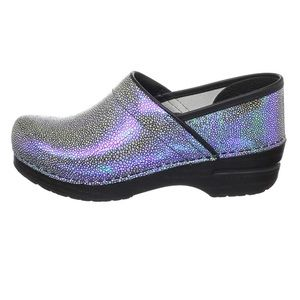 Dansko iridescent patterned clogs sz 39 (8.5-9)